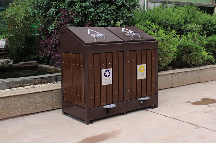 景区用钢木垃圾桶