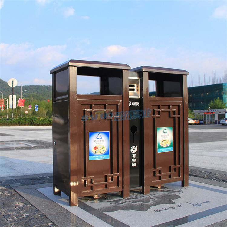 别墅户外垃圾桶街道展图