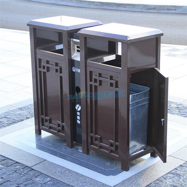 别墅户外垃圾桶侧面结构图