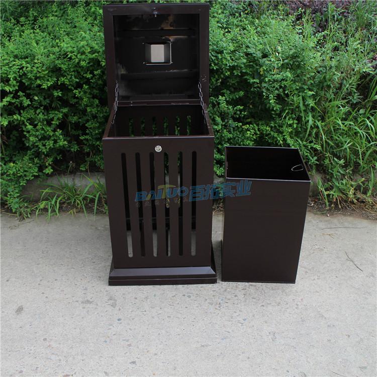 户外垃圾桶果皮箱系列结构图