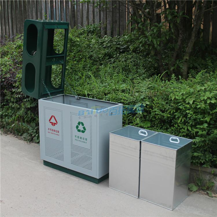 火车站户外垃圾桶内部结构图