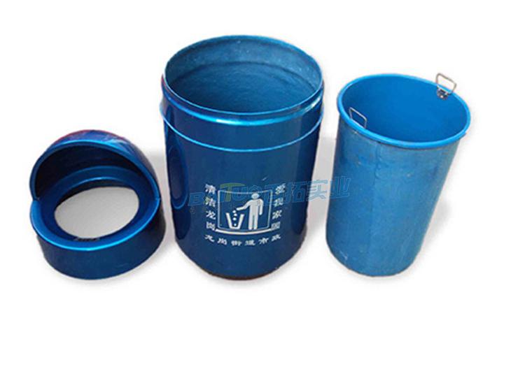 户外玻璃钢垃圾桶结构图