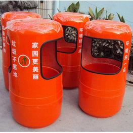 室外圆柱式垃圾桶