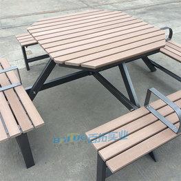 室外连体桌凳